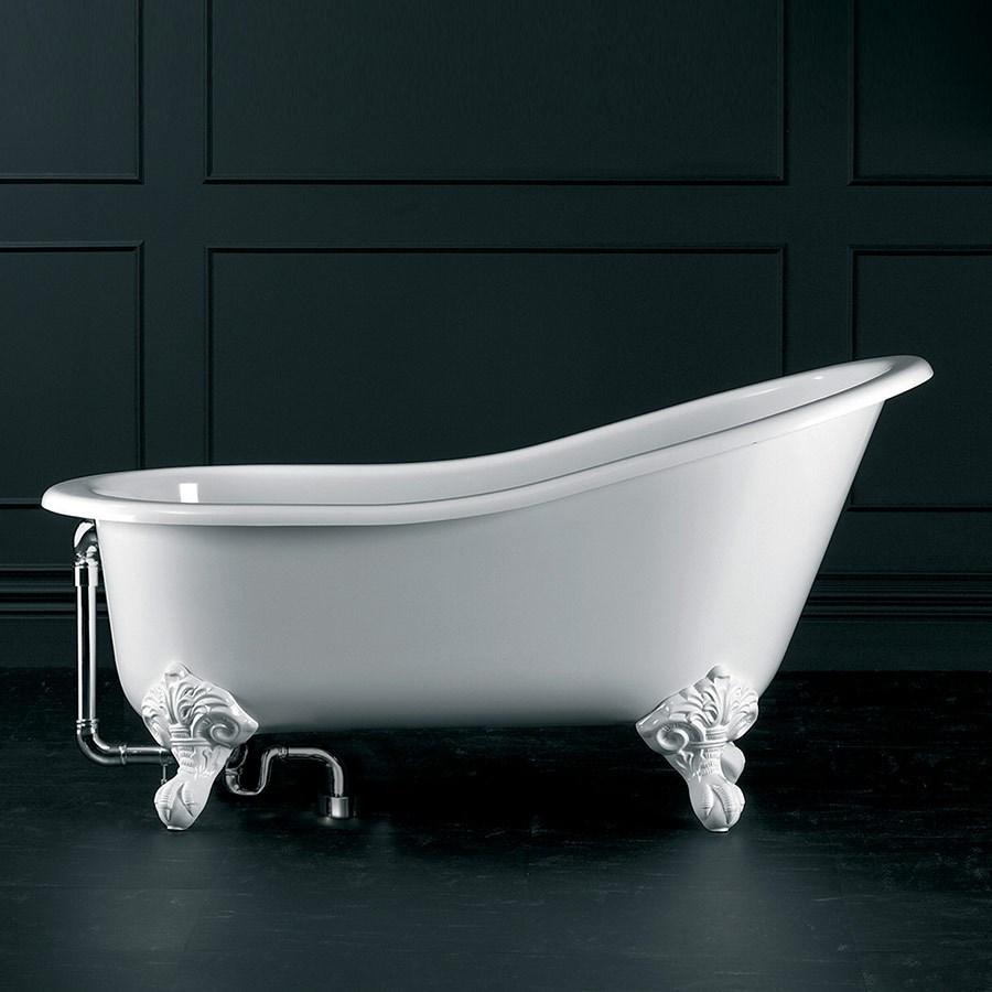 Badkar badkar med dörr : Klassiskt badkar pÃ¥ vita fötter. Längd 154 cm. Made in England.