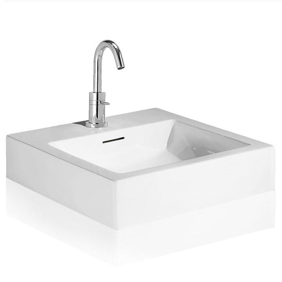 Svart tvättställ Case i design för vägg og bänkskiva.
