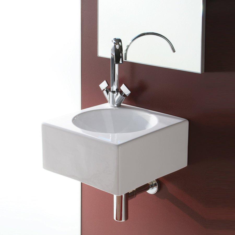 Tvättställ Quadro piccolo perfekt för det lilla badrummet.