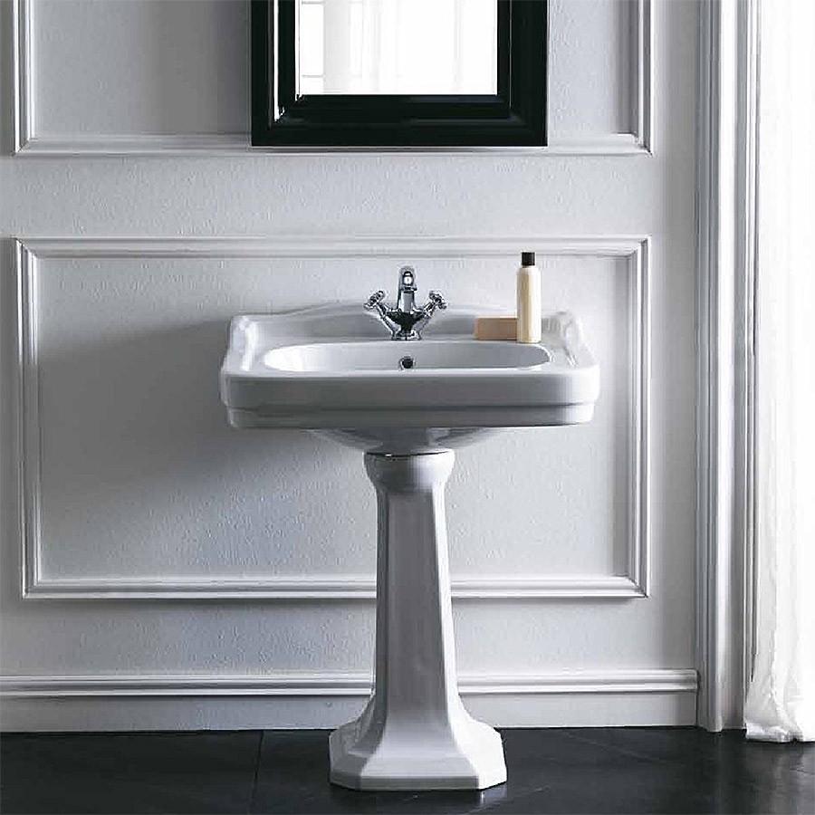 Inredning tvättställ med pelare : Theos 60 Klassisk tvättställ i porslin pÃ¥ pelare.